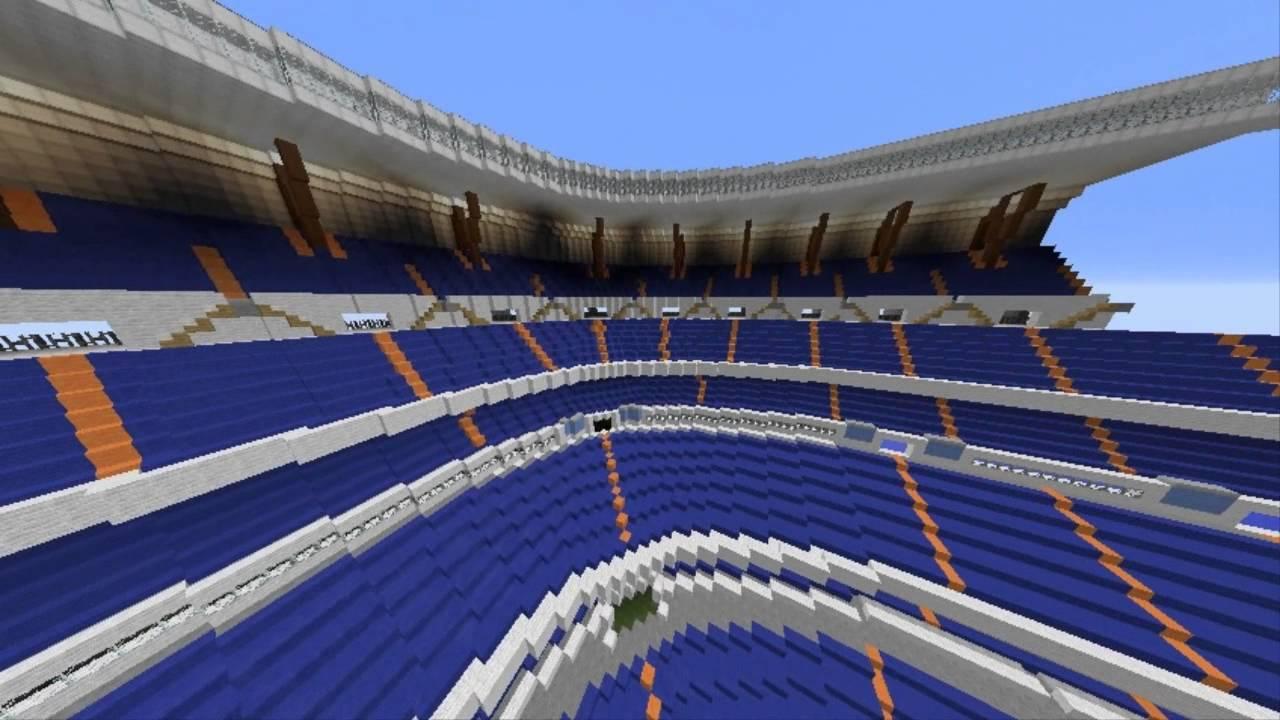 Estadio santiago bernabeu real madrid minecraft youtube for Estadio bernabeu puerta 0
