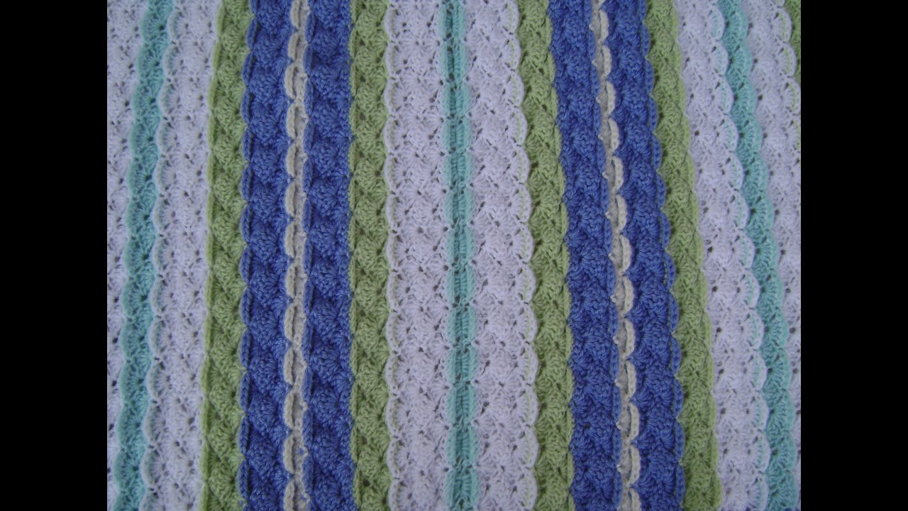 Crochet A Shell With Front Post Single Crochet Youtube