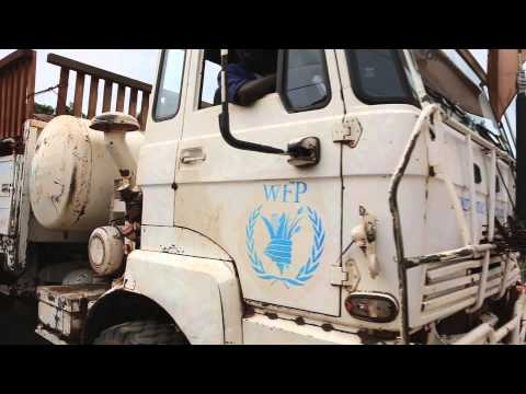 Cargo plane delivers WFP food aid to Central African Republic