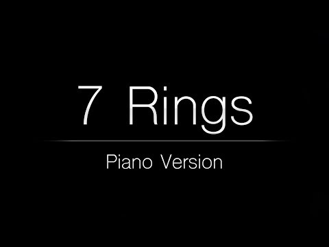 Ariana Grande - 7 rings Piano Karaoke Instrumental