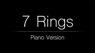 Ariana Grande - 7 rings (Piano Karaoke Instrumental)