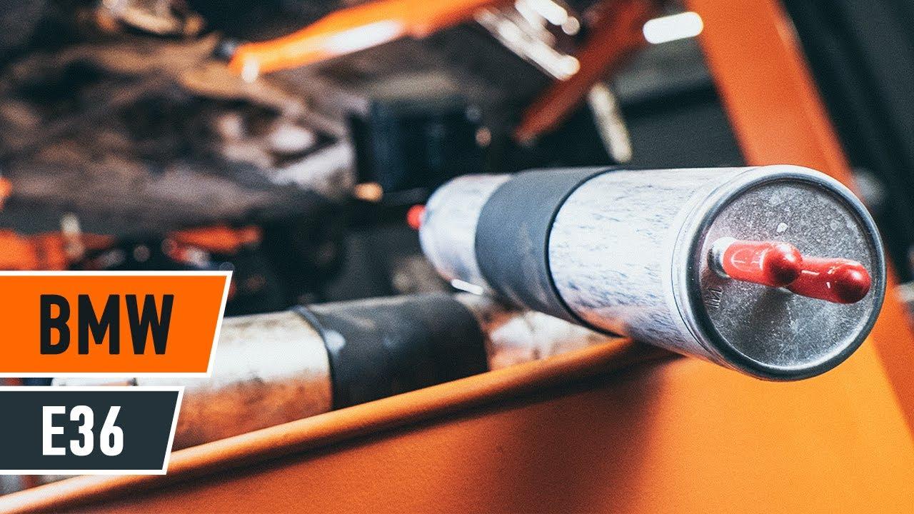 Cоmo Cambiar Filtro De Combustible Bmw 3 E36 Instrucci 211 N