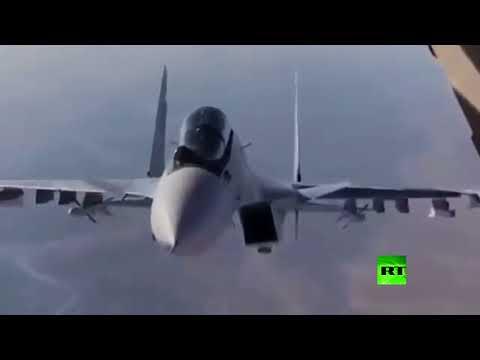 """مناورة خطرة لـ""""سو-30"""" تتحرش بـ""""إيل-76"""" في سوريا"""