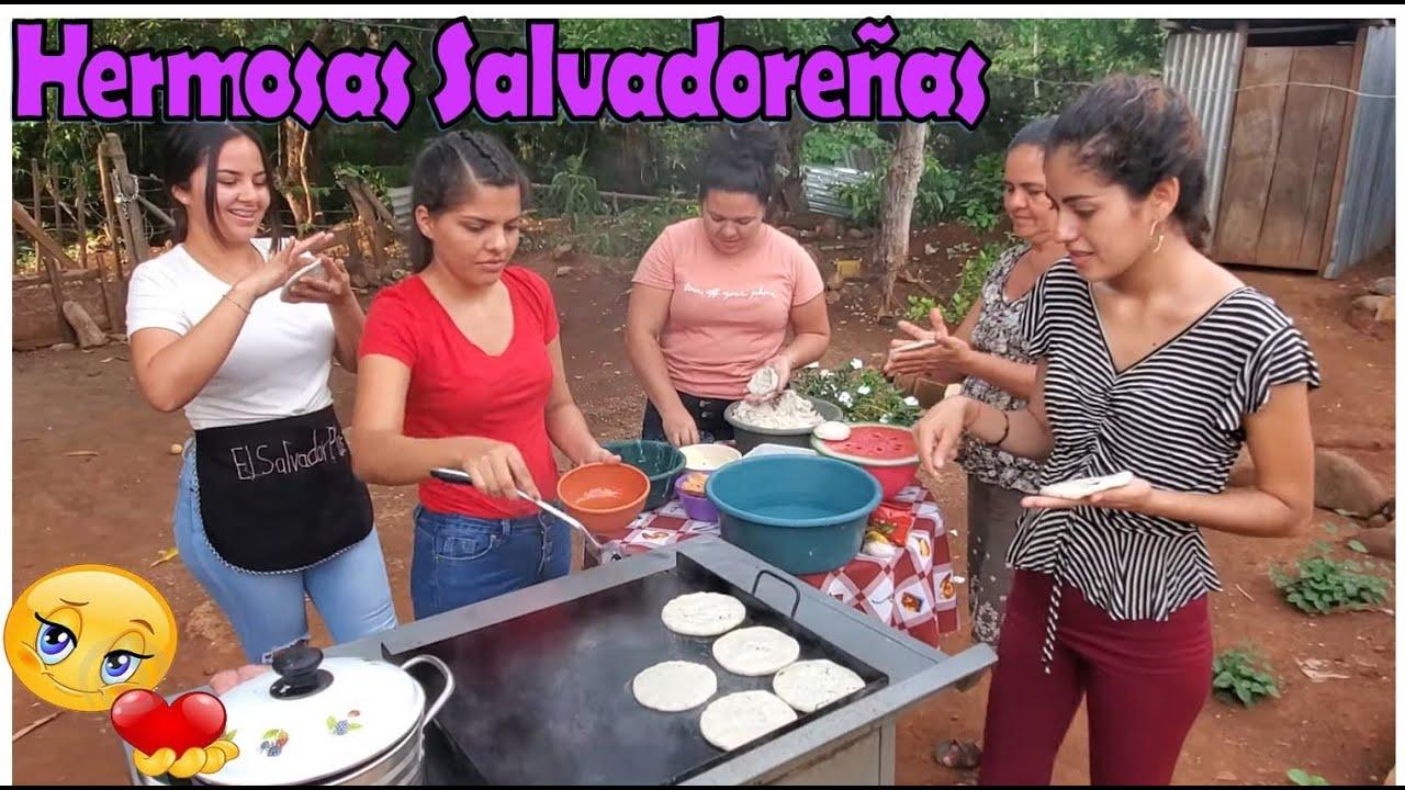 -Hermosas Salvadoreñas Echando Las Pupusas 😋Así Se Hacen Las Pupusas En Mi Cantón-P5
