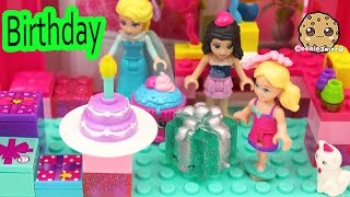 Surprise Blind Bag Lego Play Video at Barbie Doll Chelsea's Birthday Party with Queen Elsa & Friends