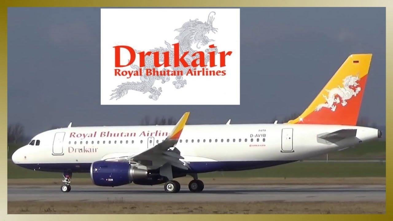 Newly Built New Drukair Royal Bhutan Airlines Airbus A319 Landing