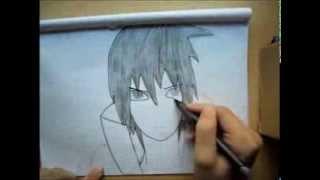 Sasuke Uchiha drawing-by Kenchy