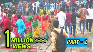 New santali dabung disco dance, Dinge dabung dabung do santali song//College Students welcome //