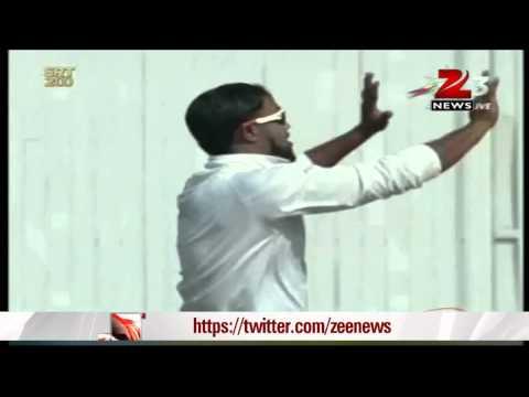Sachin Tendulkar out for 74 runs in his farewell Test