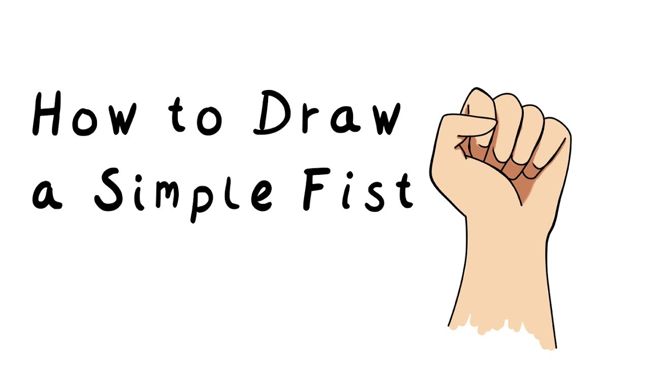 Draw A Simple Fist Youtube