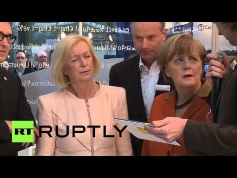 Germany: Merkel checks out her latest anti-eavesdropping Blackberry