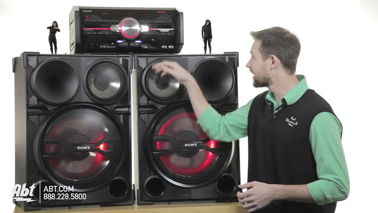 Easy-C's overview of the HUGE Sony LBT-SH2000 DJ Sound System! 2000W of  Power!
