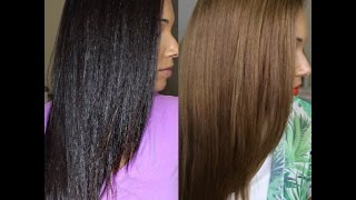 Repeat youtube video Dark To Light Hair For Summer | L'Oreal Feria | Blue Shampoo