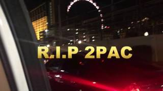 Lukane Pays  Respect To Where 2pac Was Killed In Las Vegas