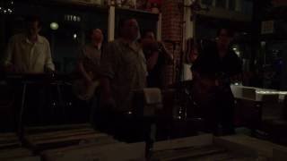 James Harman with Bill Bates . Guitar . Rob Stone. Harmonica . July 2016 .