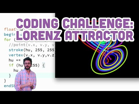 Coding Challenge #12: The Lorenz Attractor in Processing