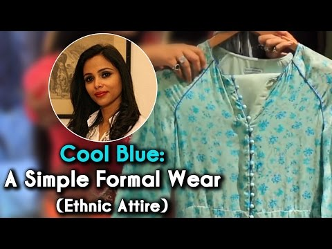 Cool Blue: A Simple Formal Daily Wear | The Ethnic Attire