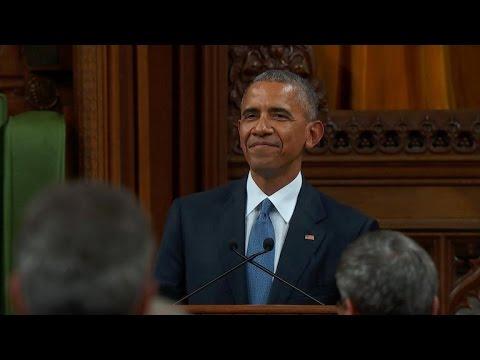 Full Video: Obama addresses Canadian Parliament