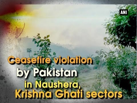 Ceasefire violation by Pakistan in Naushera, Krishna Ghati sectors  - Jammu and Kashmir News