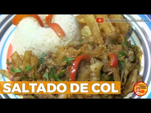 Download SALTADO DE COL | SALTADO DE REPOLLO | RECETA PERUANA