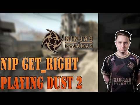 NIP GeT_RiGhT playing CS:GO Faceit on Dust2 (twitch stream)