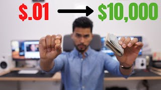 Turning .01 Penny Into $10,000 USD In 10 Days Challenge