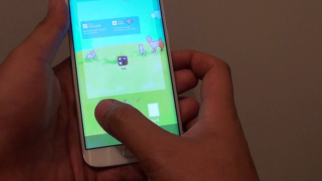 samsung galaxy s6 edge how to change home screen icon size to make it smaller youtube