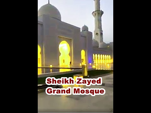 Sheikh Zayed Grand Mosque (Abu dhabi most beautiful mosque UAE ) 2021 View