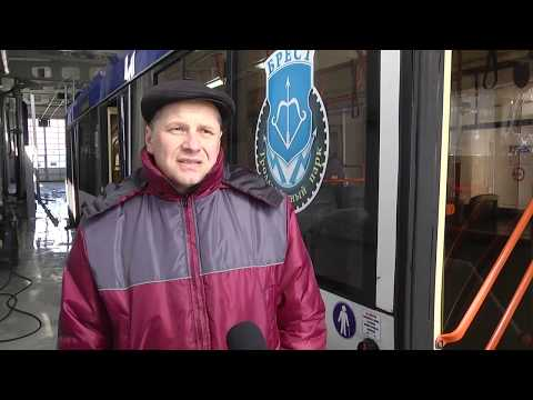 2020-04-02 г. Брест. Дезинфекция  общественного транспорта. Новости на Буг-ТВ. #бугтв