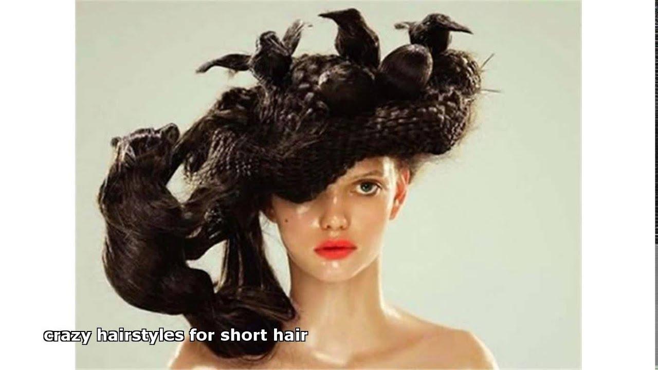 crazy hairstyles short hair