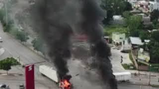 Videos del terror durante la balacera en Culiacn