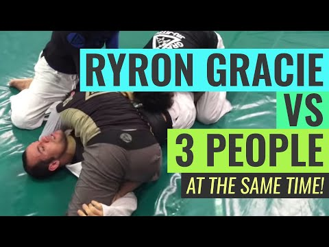 Ryron Gracie vs. 3 People (AT THE SAME TIME!)