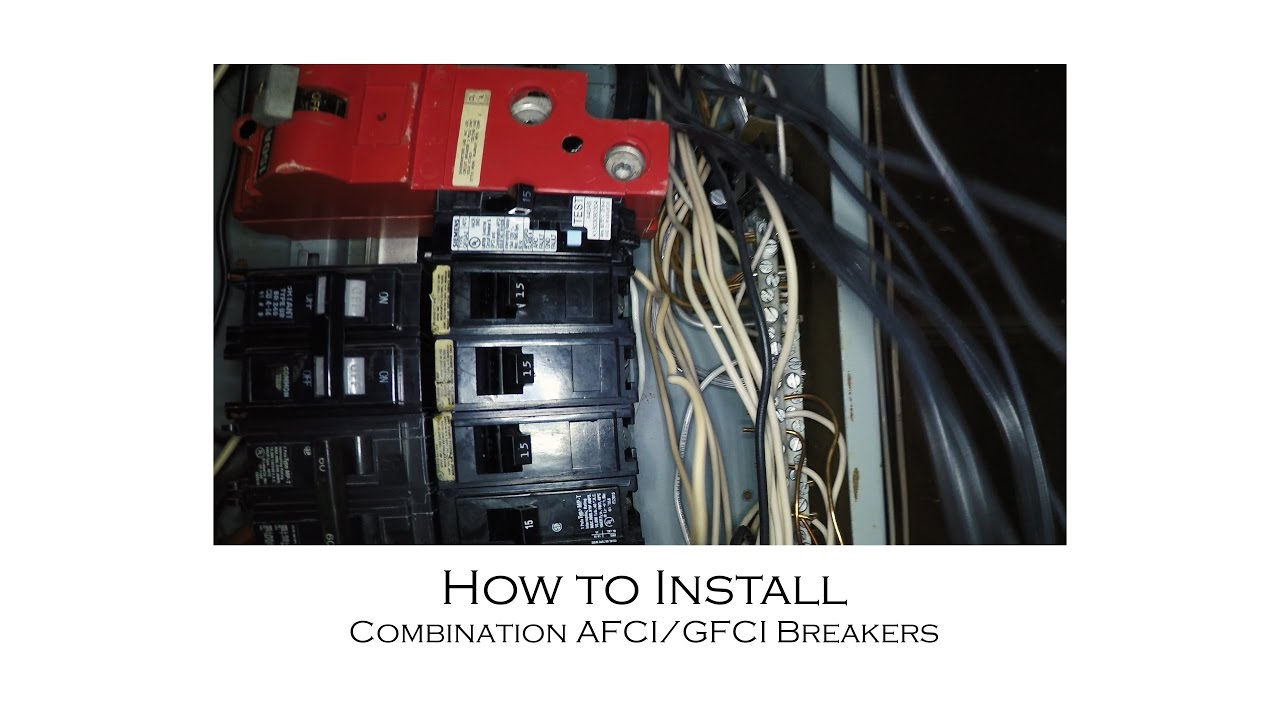 how to replace standard 15 amp breakers with combination afci gfci breakers for added protection [ 1280 x 720 Pixel ]