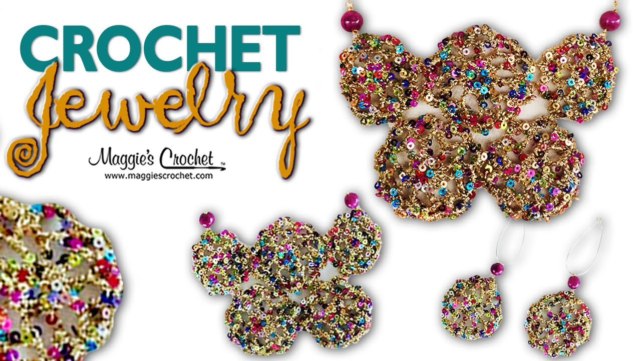 Enchant Yarn Motif Earrings Necklace Free Crochet Pattern Right