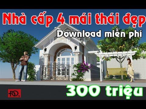 Nhà Cấp 4 Mái Thái giá rẻ đẹp 5×20 300 triệu