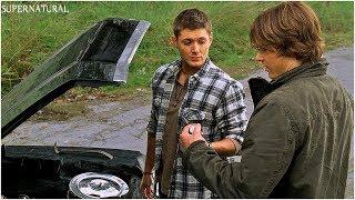 Дин учит Сэма чинить машину   Сверхъестественное