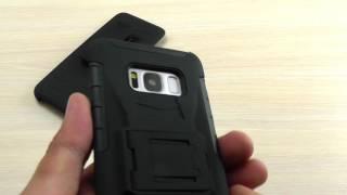 ОБЗОР: Противоударный Чехол-Накладка для Samsung Galaxy S8 SM-G950 с Подставкой и Креплением на Пояс