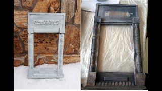 Декор старого зеркала от Оксаны Ловен меловыми красками