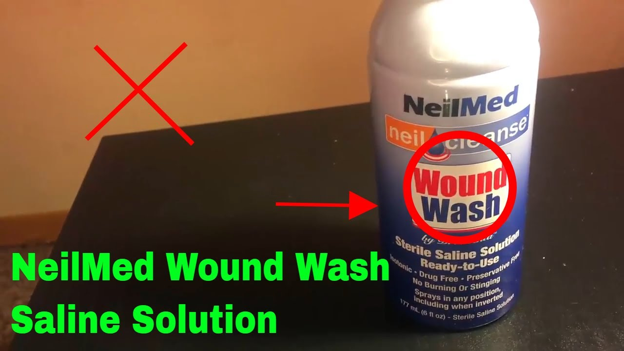 How To Use Neilmed Wound Wash Saline Solution Review Youtube