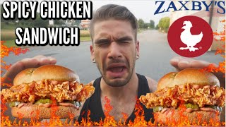Eating The Insane Spicy Zaxby's Chicken Sandwich! Trying the Zaxby Signature Chicken Sandwich
