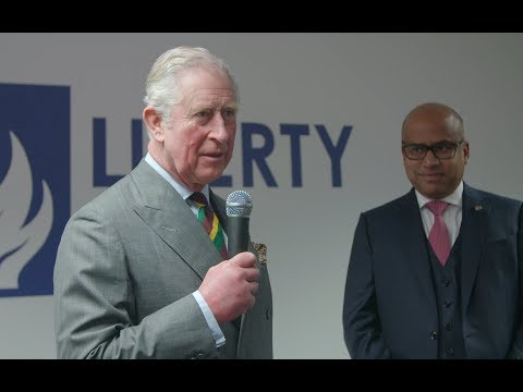 HRH The Prince of Wales restarts N furnace at Liberty Steel