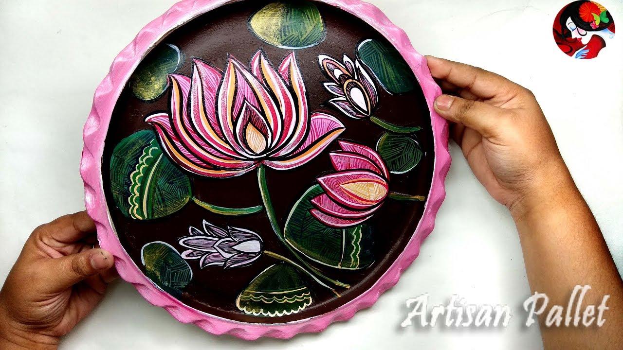Craft Idea Handmade Home Decoration Item On Clay Plate Easy And Creative Room Decor Art Youtube