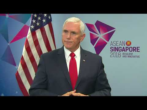 Pence on Asia-Pacific, North Korea, Rohingya