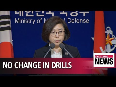 S. Korea's defense ministry brushes off possibility of scaling down joint military drills...