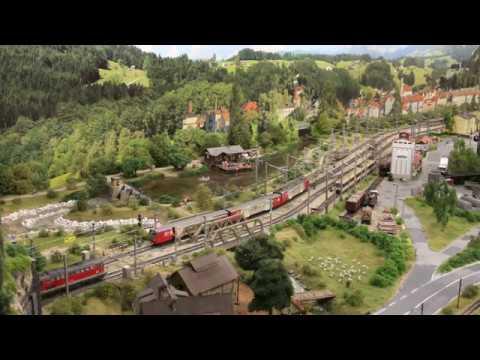 Fahrverschub nach Neuberg auf der Modelleisenbahn des ESV Knittelfeld (Ganz nahe am Original) Teil2