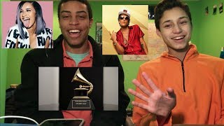 Bruno Mars and Cardi B - Finesse (LIVE From The 60th GRAMMYs ®) - Reaction!!!
