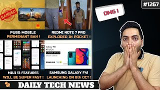 PUBG Mobile Permanent Ban😲,Galaxy F41 8th Oct,Redmi Note 7 Blast💥,MIUI 13😍,realme S🤨,Freefire BOOYAH