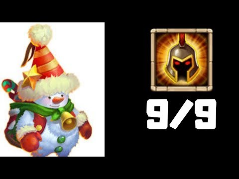 Snowzilla | 9/9 WarGod | 12/12 Skill | Castle Clash
