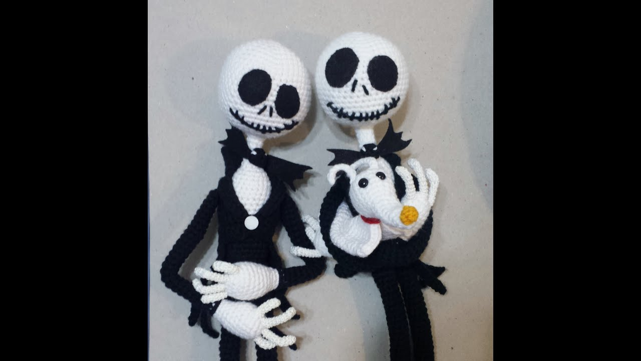 Amigurumi Jack Skellington Pattern : Amigurumi Pumpkin Jack tutorial Part 1 - YouTube