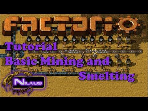 Factorio Tutorial - 3  Basic Mining and Smelting